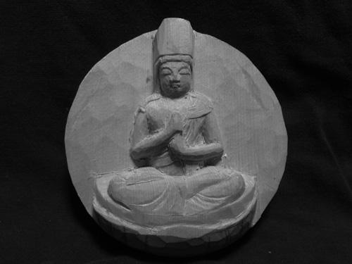 金剛界 1 大日如来(毘盧遮那如来坐像)の二回目の彫刻