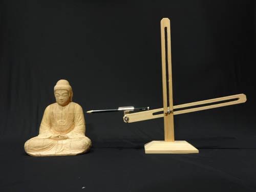 寄木造りの制作行程 15 釈迦如来坐像  トースカンを使う