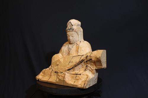 寄木造りの制作行程 7 目安線を彫刻 彫り進め過ぎずに彫刻する