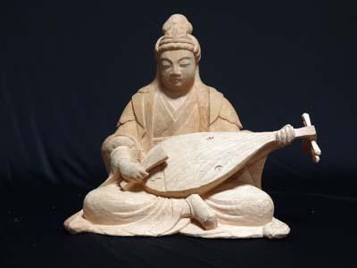 寄木造りの原型の制作行程 弁財天の彫刻 14 完成