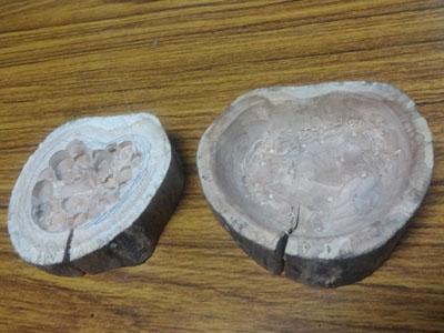 平成27年 香合作り その5  蓋と身の内側を削る