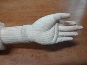 仏像の手の彫刻 開き手の彫刻 6