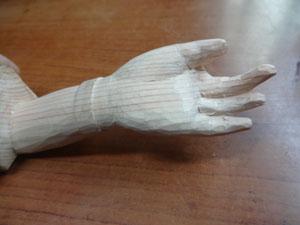 仏像の手の彫刻 開き手の彫刻 5