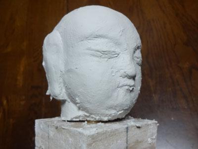 仏像の顔を紙粘土で制作 ー お顔の表情の修練 6
