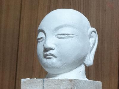 仏像の顔を紙粘土で制作 ー お顔の表情の修練 8