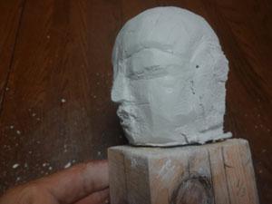 仏像の顔を紙粘土で制作 ー お顔の表情の修練 1
