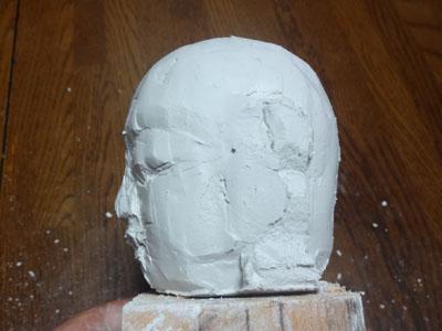 仏像の顔を紙粘土で制作 ー お顔の表情の修練 4