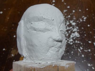 仏像の顔を紙粘土で制作 ー お顔の表情の修練 5