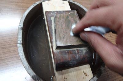 砥石桶の砥石台を作る 後編