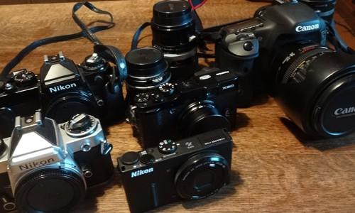 写真を撮る フィルムカメラ(NIKON FE)からデジタルカメラ(EOS 7D / X20 / P330)へ