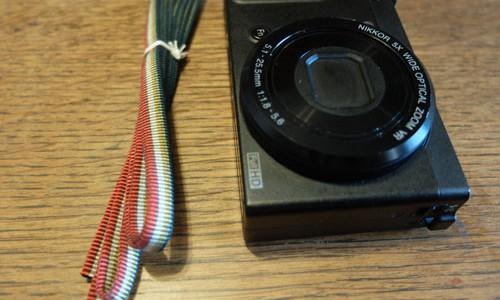 伊藤組紐店の真田紐を使ったカメラのストラップ
