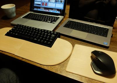 filcoのキーボードに使う木製レストとLogicool MX Masterのマウスパッドを作る