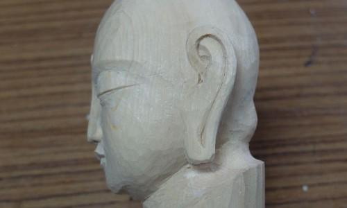 仏像の横顔と耳の彫り方 2