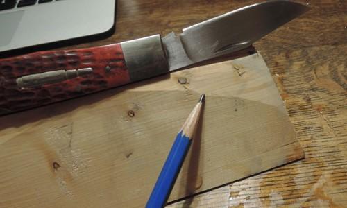 カスタムナイフを研ぐ 2  ー 台を改良する ー