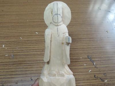 法隆寺金堂の毘沙門天像の彫刻 3