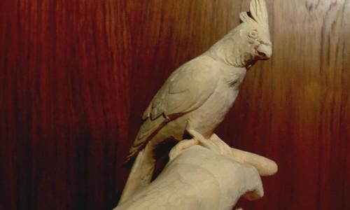 バードカービング 鳥の彫刻(オカメインコ)7 仕上げ