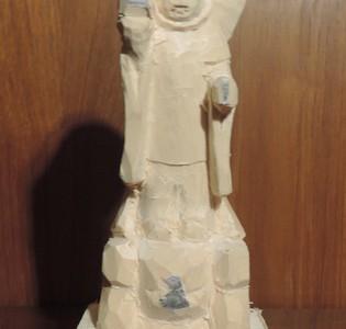 法隆寺金堂の毘沙門天像の彫刻 2