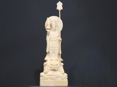 法隆寺金堂の毘沙門天像の彫刻 5