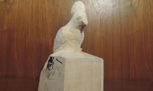 鳥の彫刻 (オカメインコ) 2