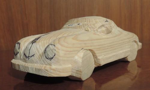 木彫りのポルシェ356 Speed Ster 2