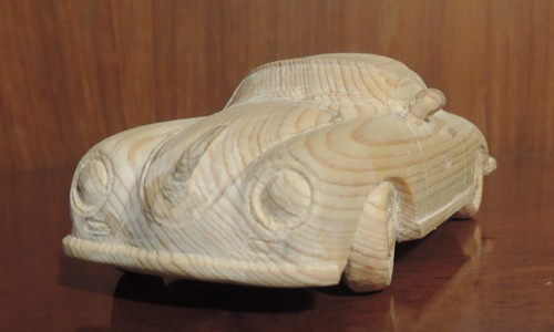 木彫りのポルシェ356 Speed Ster 4