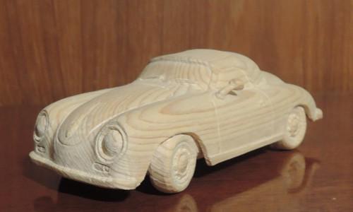 木彫りのポルシェ356 Speed Ster 6