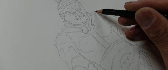 四天王像の彫刻としての下図